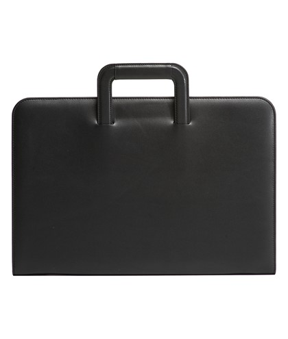 Document case with zip and retractable handles