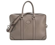 Bag w. double zip - Dark Taupe